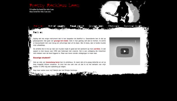 First website - home
